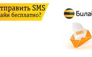 Как отправить SMS на Билайн бесплатно